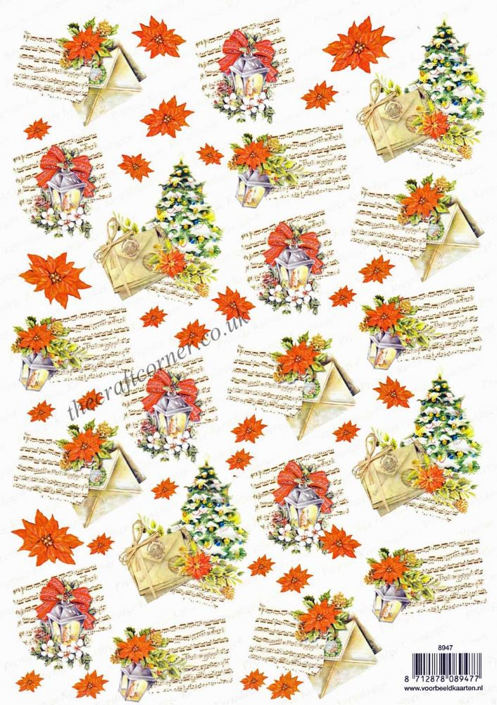 Christmas Music Designs Backing Paper